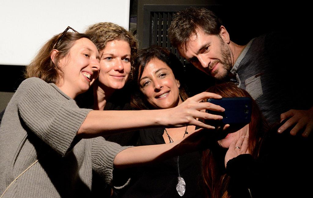 Najwa Najjar with fans,CR Belin